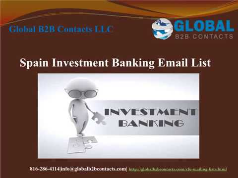 Spain Investment Banking Email list