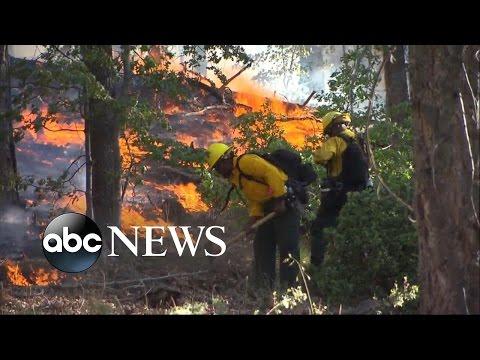 Wildfire Strikes San Bernardino National Forest in Southern California