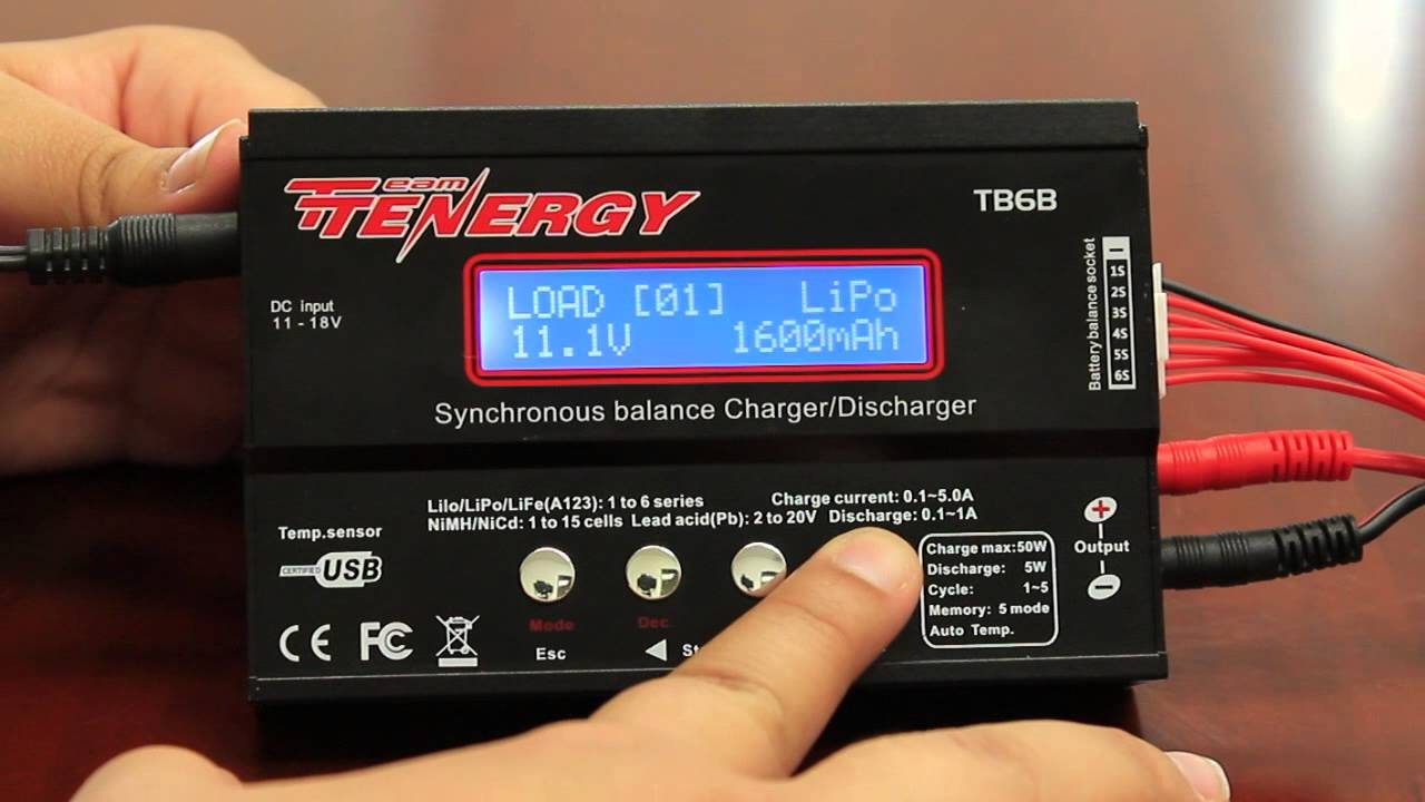 tutorial tenergy tb6b balance charger for nimh lipo life battery rh youtube com