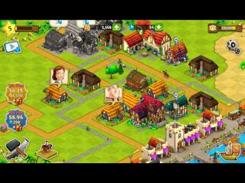 Free iOS and Android Game Town Village Farm, Build, Trade, Harvest City  Gameplay