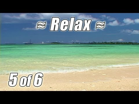 Study in Paradise BAHAMAS BEACHES #5  Nassau Cabbage Cable Beach for Studying Relaxing Ocean Sounds