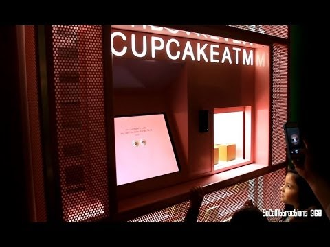 [HD] Sprinkles Cupcake ATM Machine - Ordering Food from ATM Machine