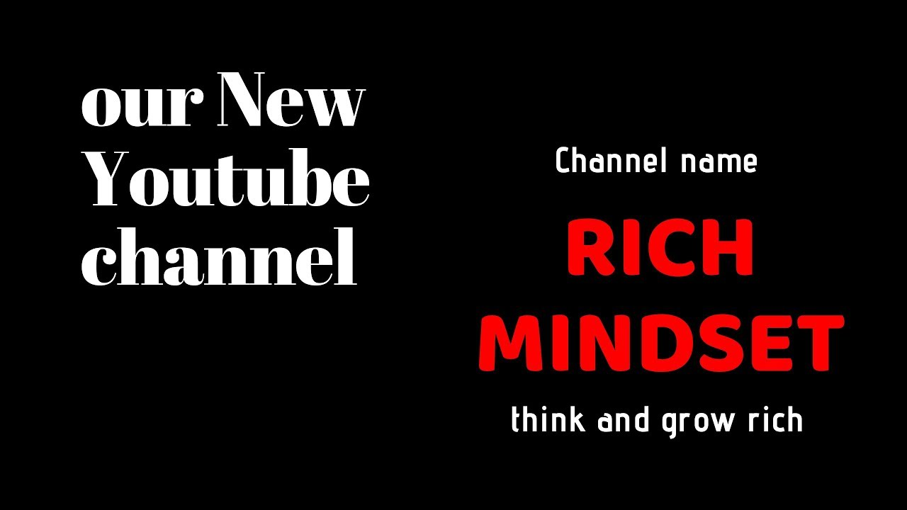 Download Subscribe NOW | our Brand new channel Rich Mindset