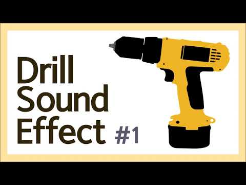 Drill Sounds, Drill Sound Effect, White Noise,  Sleep Noise, Concentration, 2Hours, ASMR, 전동 드릴