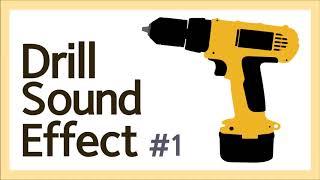 Drill Sound Effect, 전동 드릴, Whi…