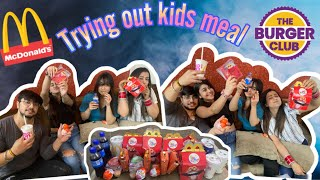 TRYING OUT KIDS MEAL || MC DONALD'S || BURGER CLUB || SIBLING FUN CHALLENGE ||