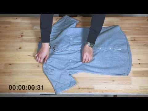 셔츠 3초 만에 접는 방법