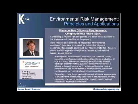 Managing Liability Risk Facing Buyers and Sellers in Transactions  with Environmental Concerns