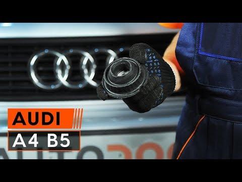 Comment remplacer une coupelle d'amortisseur avant sur une AUDI A4 B5 TUTORIEL | AUTODOC