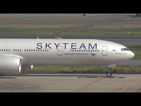 Garuda Indonesia SkyTeam Livery Boeing 777-300ER PK-GII Landing at HND 34L