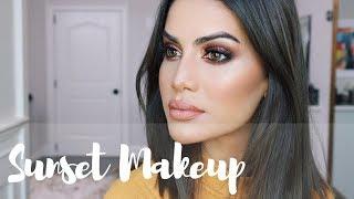 Sunset Makeup using NAKED HEAT palette