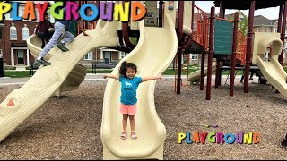 Outdoor Playground park for kids family fun vlog