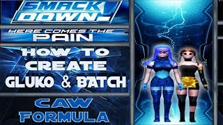 CAW formula walkthrough on how to create the Gluko and Batch from Mon Colle Knights in Smackdown: Here Comes the Pain. Game: WWE SmackDown!
