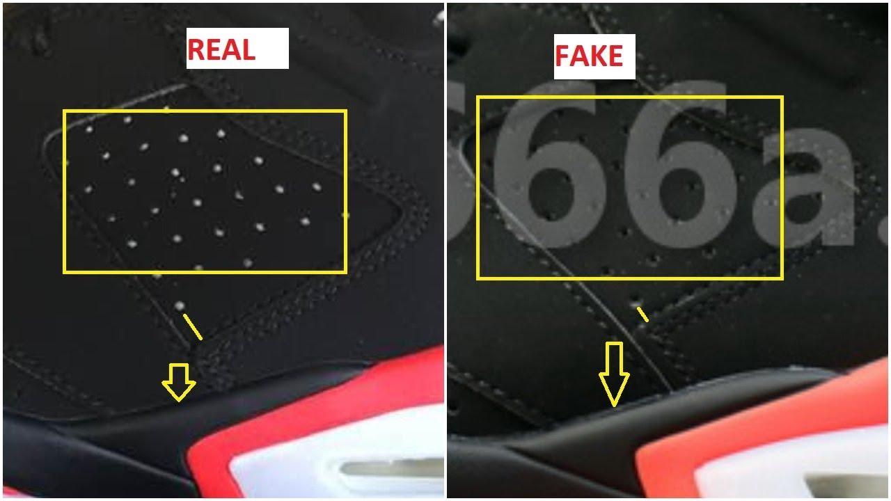 Real Vs Fake Air Jordan 6 Black