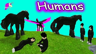 Humans In Horses World + My Little Pony MLP 3D - Let's Play Online Roblox Horse Games