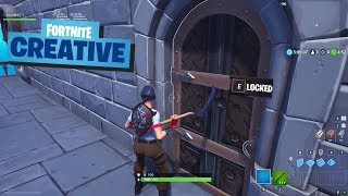 How to create working LOCKED DOORS in Fortnite Creative Mode - Creative Mechanics