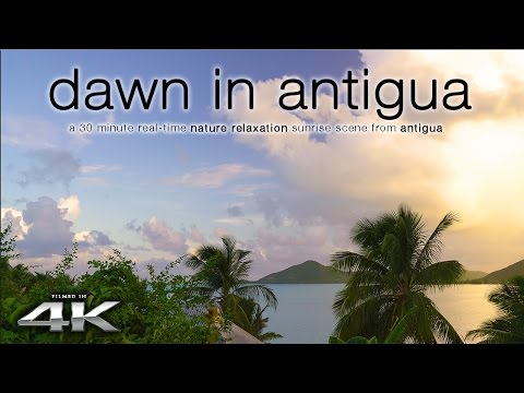 4K CARIBBEAN SUNRISE SCENE: Dawn in Antigua | Real-Time Nature Relaxation™ Video Sony A7RII