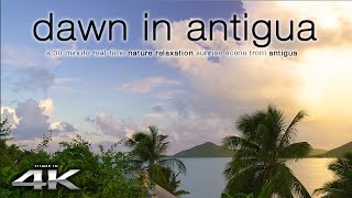 Start your morning with this extremely soothing and ultra high-definition dawn scene from the hidden caribbean island of antigua, on it's gorgeous south east...