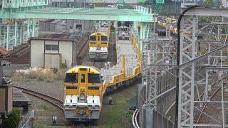 2021/04/09 【構内移動】キヤE195系 LT-3編成東京レールセンター | JR East: KiYa E195 Series Long Rail Carrier LT-3 Set