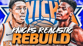 The RJ Barrett Show! New York Knicks Realistic Rebuild! NBA 2K20