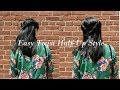 Easy Twist Half-Up Style Tutorial
