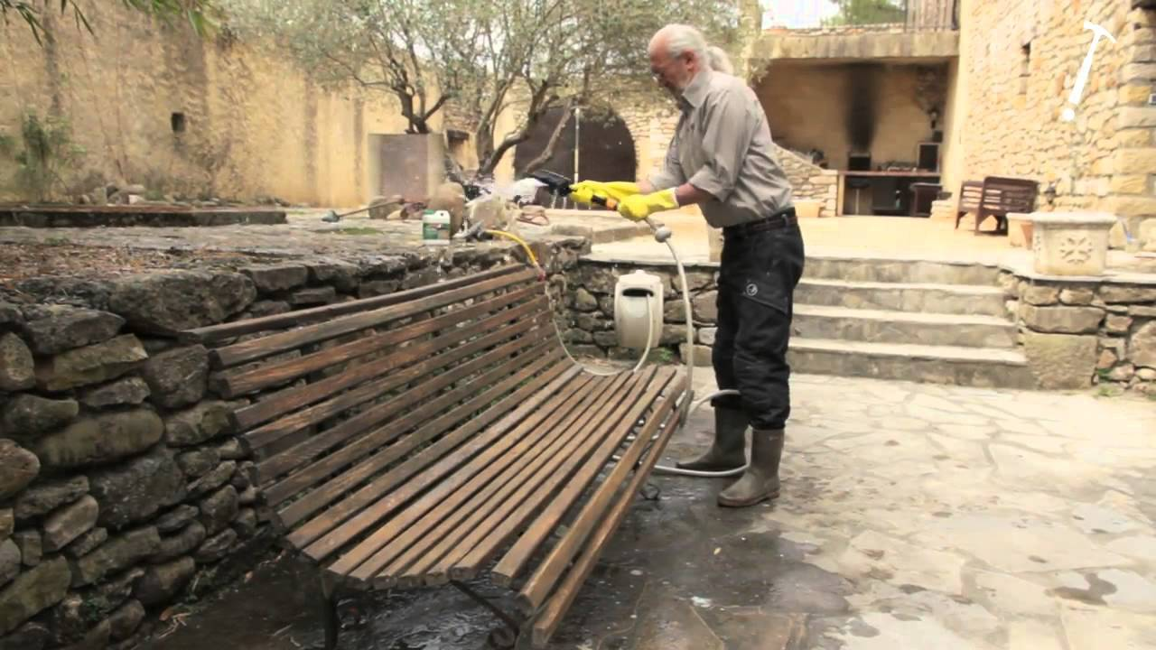 Robert Longechal Rénovation D 39 Un Banc En Bois Youtube
