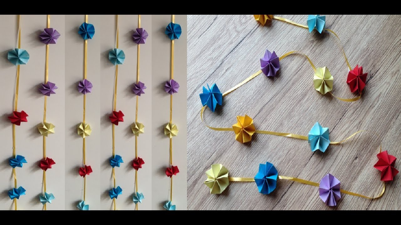 How To Make Wall Hanging Door Hanging Toran For Diwali