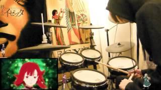 終末のイゼッタ - Izetta - The Last Witch - OP 「cross the line」 - Drum Cover - 叩いてみた