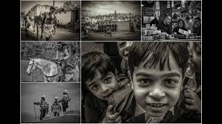 Street & Travel Collage Photos Of People In B&W Vol. #1