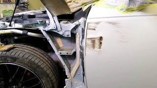 видео: Audi A4.  Рихтовка рваной двери.    ФИНИШ!