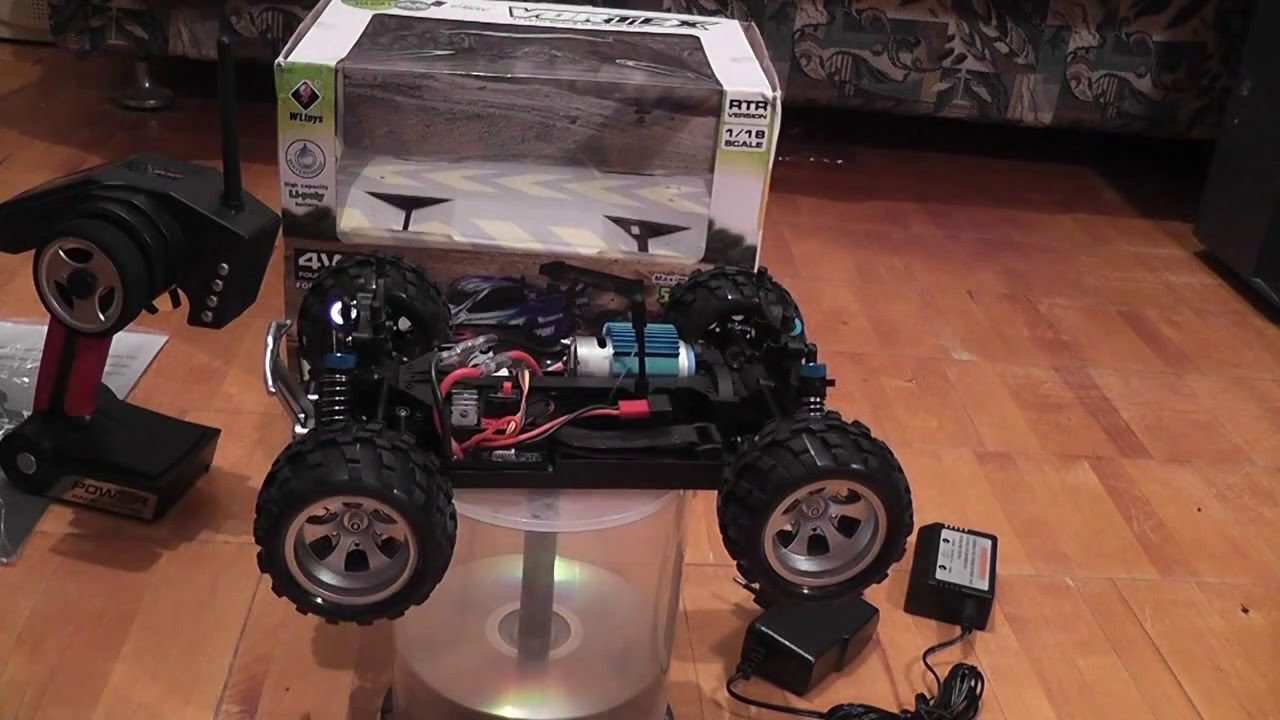 e9abe81d9 Wltoys A979 1 18 2.4GHz 4WD Monster Truck (VORTEX) - YouTube