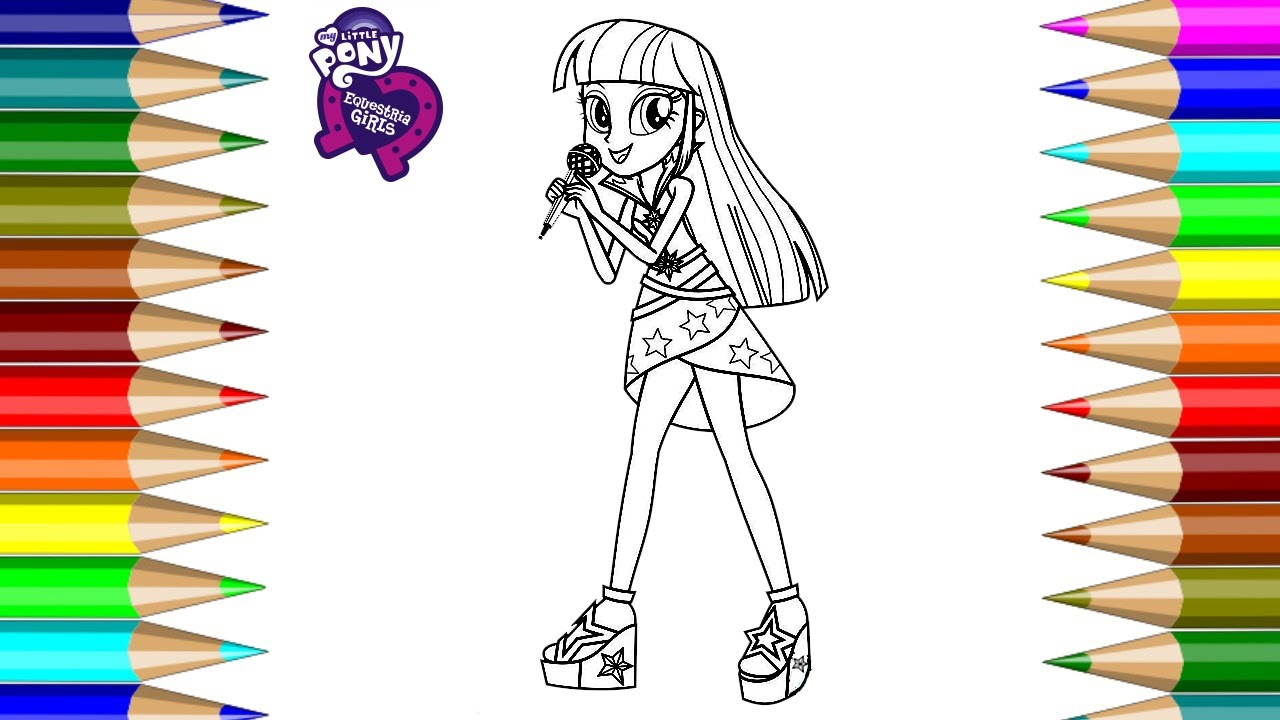 Mlp Equestria Girl Twilight Sparkle Coloring Book Pages Video For