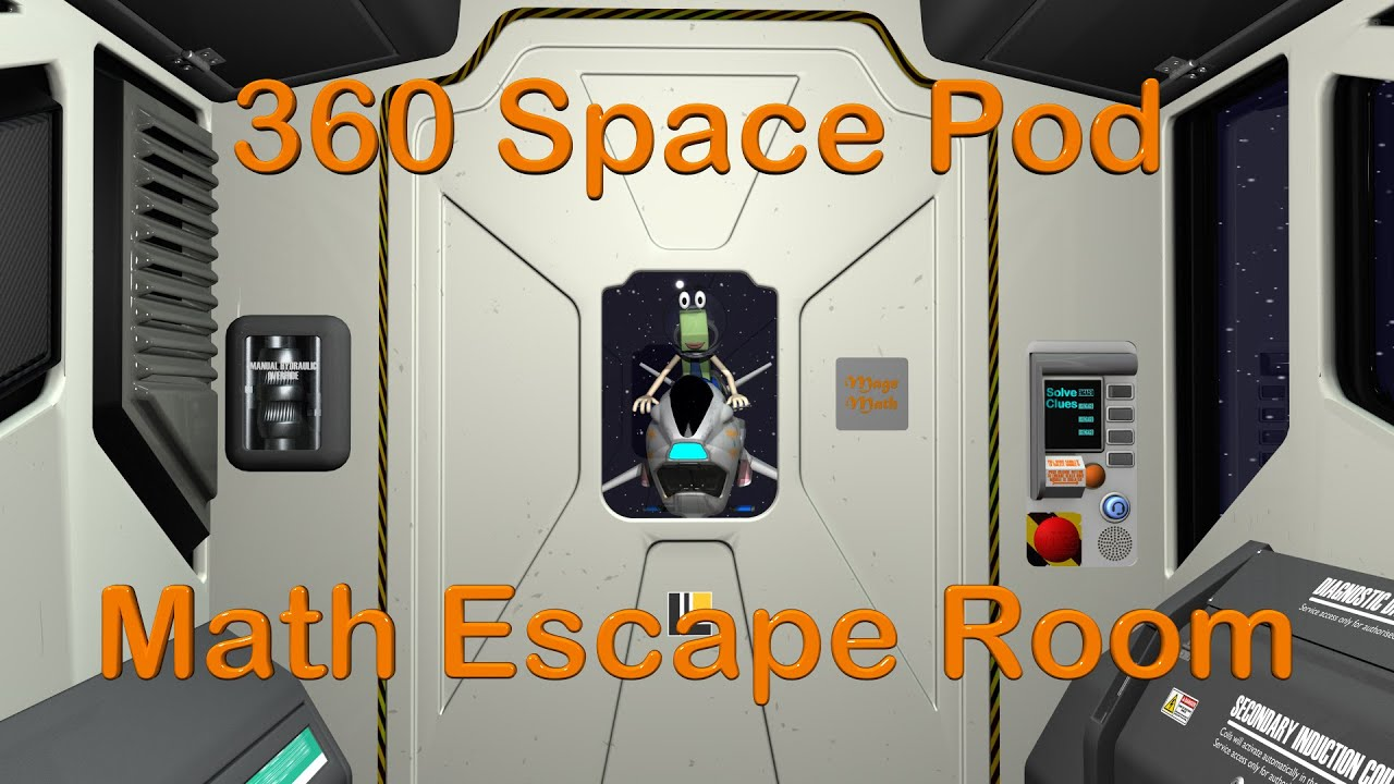 VR Space Pod Math Escape Room - Mage Math 10 Minute Video