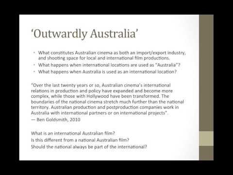 Australian Cinema: Overview of Course
