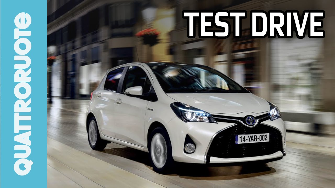 toyota yaris hybrid 2014 test drive - youtube