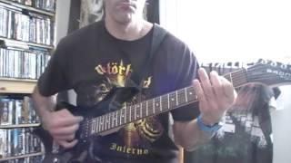 Asphyx -  Deathhammer (Guitar cover)