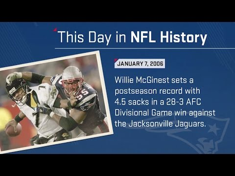 Willie McGinest Sets Postseason Sack Record  | This Day In NFL History (1/7/06) | NFL