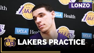 Lonzo Ball Returns To Full Lakers Practice, Still Feels 'Some Pain' From Injury