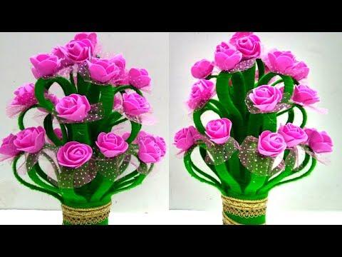 DIY Guldasta/Make Amazing Foam Rose...