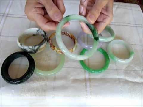 Chinese Jade And Burmese Jadeite Bangle Bracelets Youtube