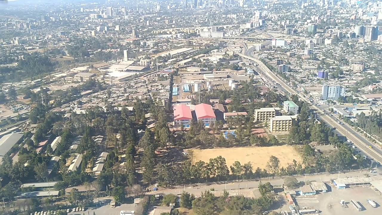 Aerial View of Addis Ababa - January 2019
