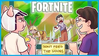 WELCOME to the NOOB TRAP EXHIBIT in Fortnite: Battle Royale! (Fortnite Funny Moments)