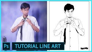 Cara Membuat Line Art/ Vector Dengan Photoshop (Full Bagi Pemula)