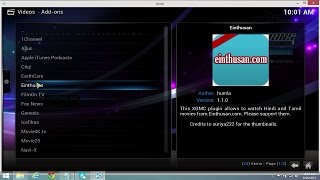Einthusan Addons - How to Install on Kodi to watch free HD Hindi, Bangla, Tamil Movies (Easy Method)