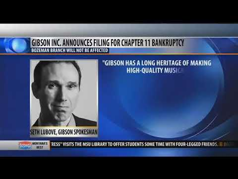 Gibson says bankruptcy filing won't affect Bozeman guitar factory