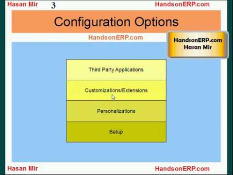 Introduction to Oracle E-Business Suite Personalizations - 1 of 4