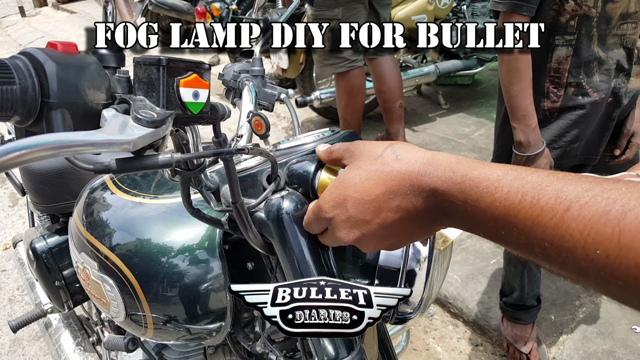 Pilot Fog Lamp For Bullet Royal Enfield Must Watch Piaa 1100 Wiring Diagram