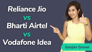 Reliance Jio vs Bharti Airtel vs Vodafone Idea (VI) - Telecom share news | Telecom sector in India Thumb