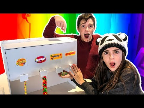 WE MADE A GIANT CANDY DISPENSER!! - VENDING MACHINE DIY!