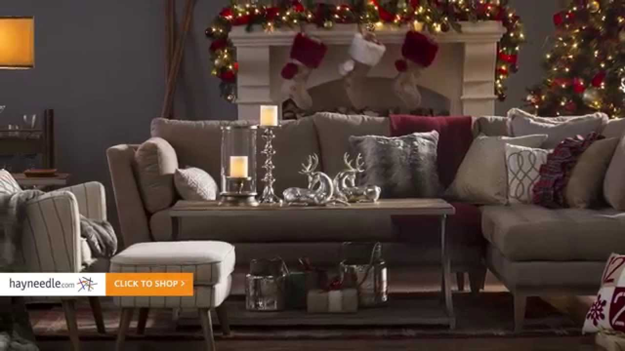 Rustic Luxe Holiday Living Room